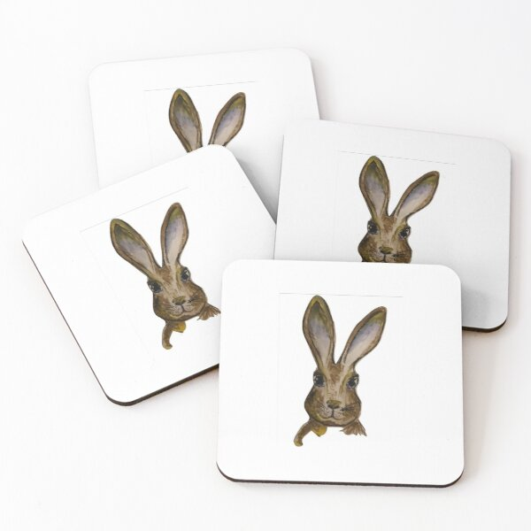 The friendly hare Coasters (Set of 4)