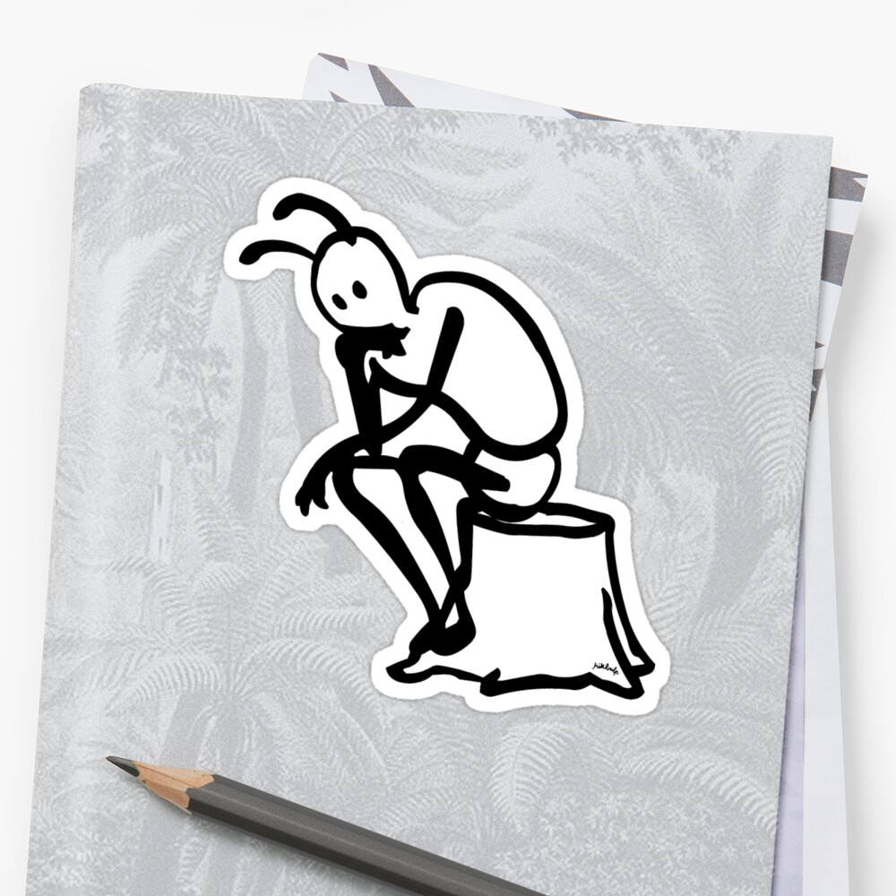thinker Sticker