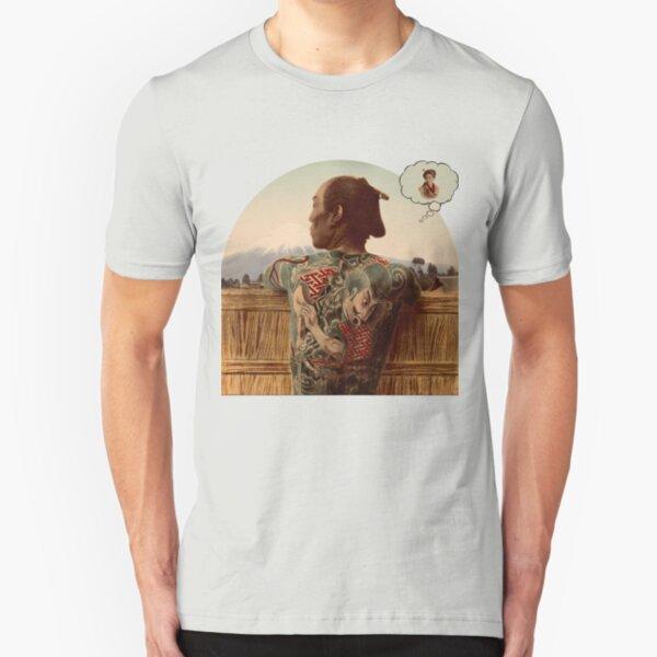 Samurai Day Dreaming Slim Fit T-Shirt
