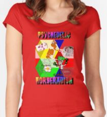 Psychedelic Horseradish Women's Fitted Scoop T-Shirt