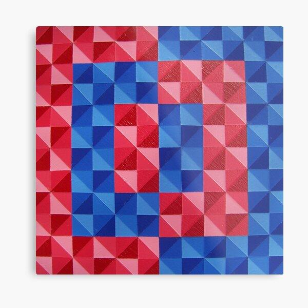Cadmium Red Cobalt Blue Metal Print