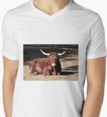 Bull Relaxing Mens V-Neck T-Shirt