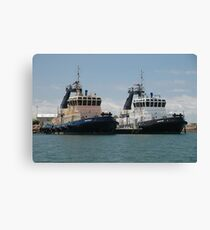 NEWCASTLE HARBOUR TUGS Canvas Print