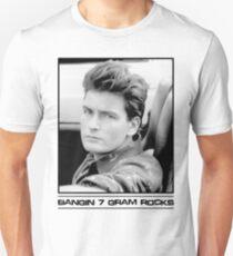 Camiseta unisex Charlie Sheen: Bangin '7 Gram Rocks.