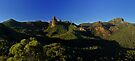 Belougery Spire and Breadknife, Warrumbungles, NSW. by Andy Newman