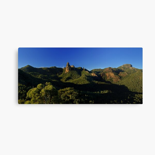 Belougery Spire and Breadknife, Warrumbungles, NSW. Canvas Print
