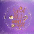 Silent Night Holy Night Decorative Design 2 by hurmerinta