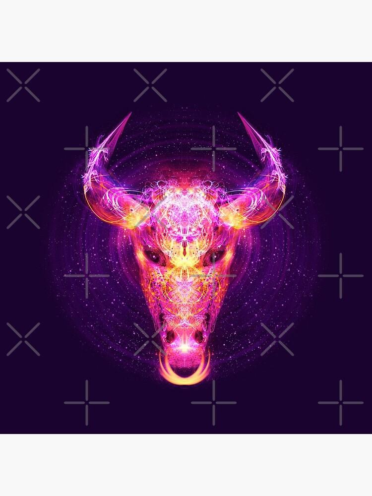 Taurus Zodiac Lightburst by ifourdezign