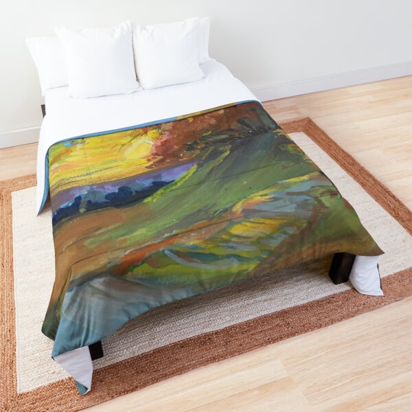 Autumn Sunset Scene Comforter