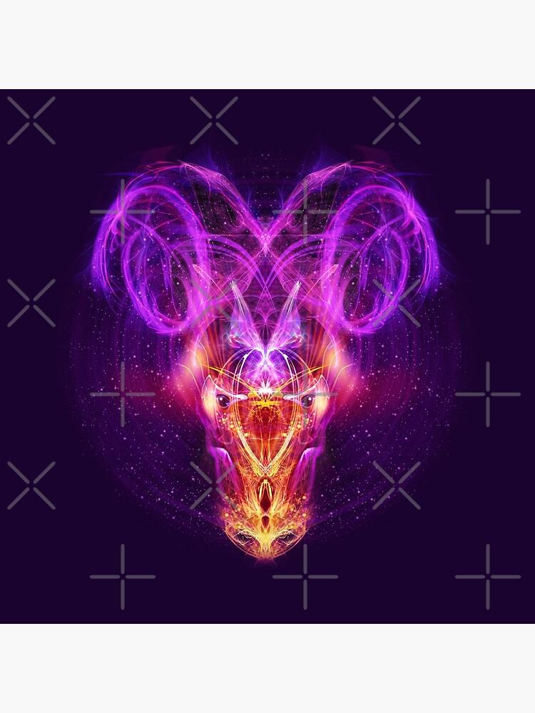 Aries Zodiac Lightburst by ifourdezign