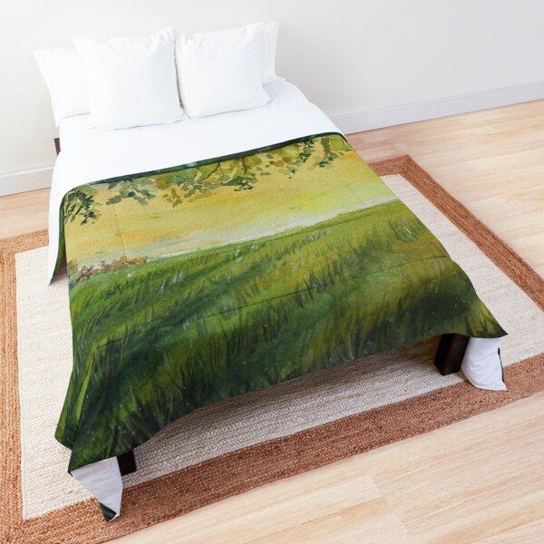 Pretty Summer Grassy Plain Comforter