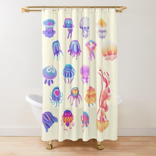Jellyfish Day - pastel Shower Curtain