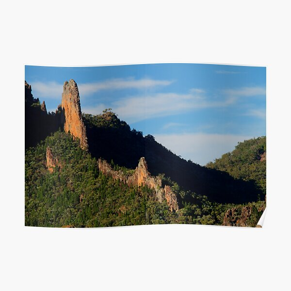 The Breadknife, Warrumbungle Ranges, NSW. Poster