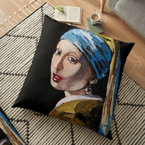 The Girl with the Pearl Earring Floor Pillow