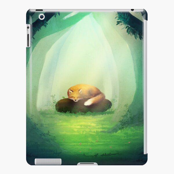 Fox in the forest. Digital painting iPad Snap Case