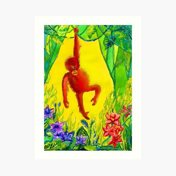 Archie the Monkey  Art Print