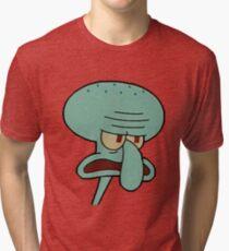 Camiseta de tejido mixto Calamardo enojado