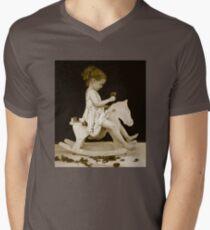 WOOD HORSE V-Neck T-Shirt