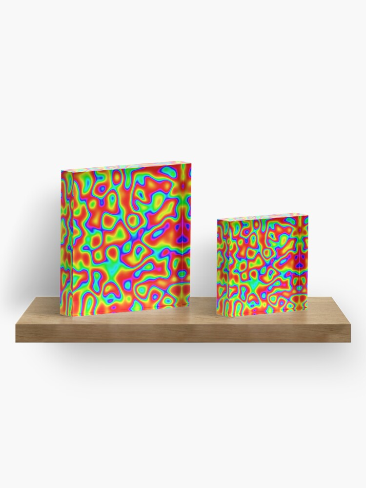 Alternate view of Rainbow Chaos Abstraction II Acrylic Block