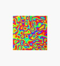 Rainbow Chaos Abstraction II Art Board Print