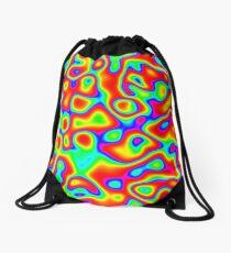 Rainbow Chaos Abstraction II Drawstring Bag