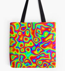 Rainbow Chaos Abstraction II Tote Bag