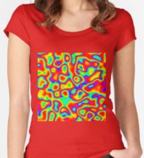 Rainbow Chaos Abstraction II Fitted Scoop T-Shirt