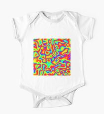 Rainbow Chaos Abstraction II Short Sleeve Baby One-Piece