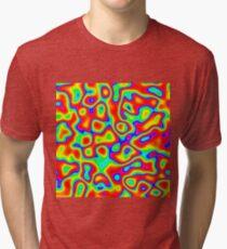 Rainbow Chaos Abstraction II Tri-blend T-Shirt