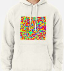 Rainbow Chaos Abstraction II Pullover Hoodie
