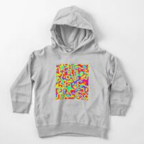 Rainbow Chaos Abstraction II Toddler Pullover Hoodie
