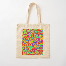 Rainbow Chaos Abstraction II Cotton Tote Bag