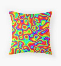 Rainbow Chaos Abstraction II Floor Pillow