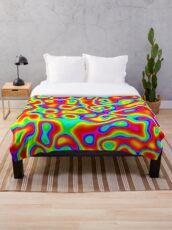 Rainbow Chaos Abstraction II Throw Blanket