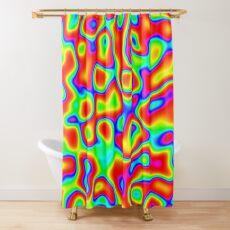 Rainbow Chaos Abstraction II Shower Curtain