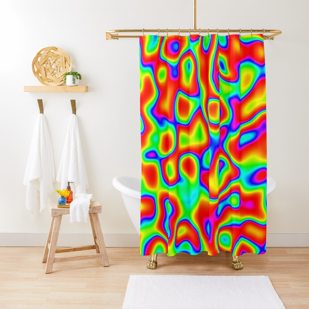 Rainbow Chaos Abstraction II Shower Curtain