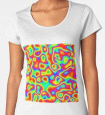 Rainbow Chaos Abstraction II Premium Scoop T-Shirt