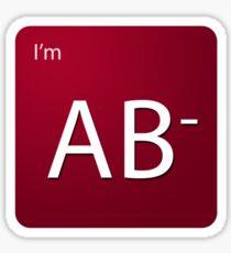 Blood Type - AB negative Sticker