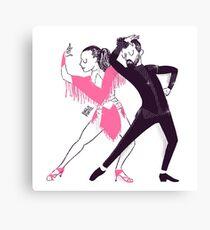Bailarines de mambo en un show Lienzo