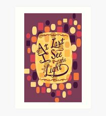 Tangled - At Last I See the Light Art Print