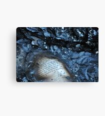 Papery Remains Canvas Print