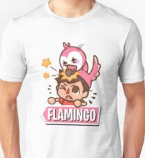 Flamingo Cartoon Slim Fit T-Shirt