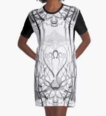 Mathengyger The Warrior, The Disciple and the Crucible of the Witness Graphic T-Shirt Dress