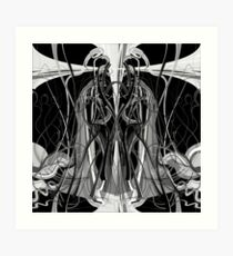 Mathengyger The Warrior, The Disciple and the Crucible of the Witness Art Print