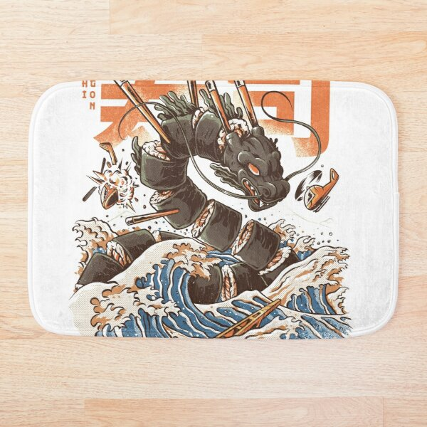 Great Sushi Dragon  Bath Mat