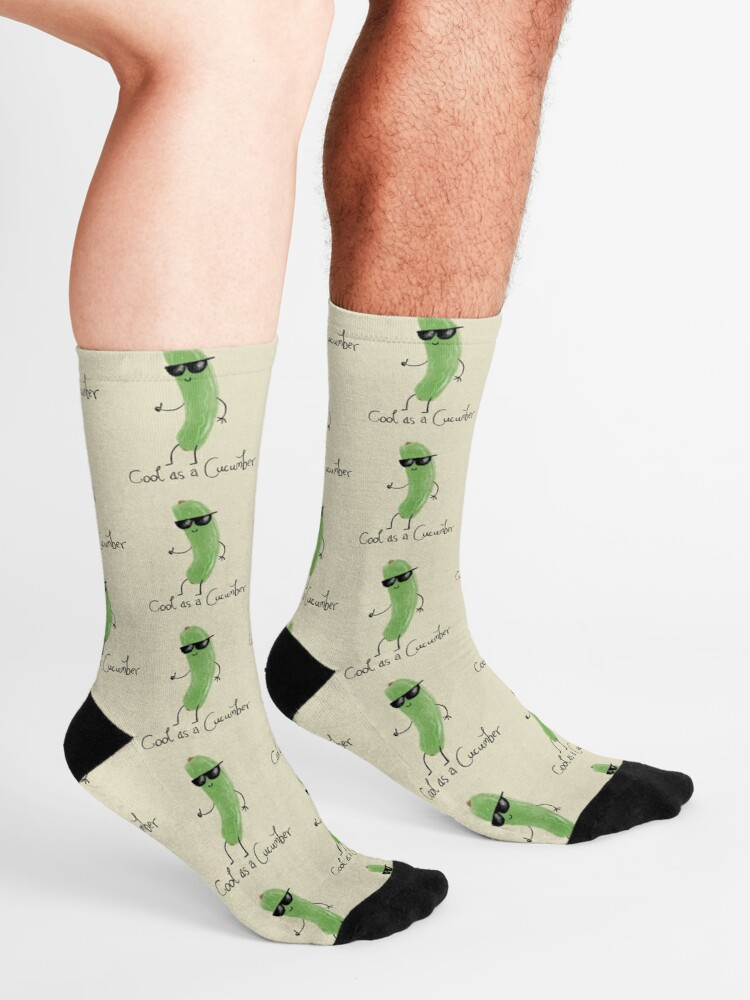 Alternate view of Cool as a cucumber Socks
