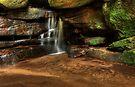 Water over rocks by John Morton