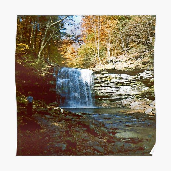 Harrison Wright Falls in Ricketts Glen circa 1979 Poster
