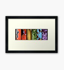 It's A Colourful World Framed Print