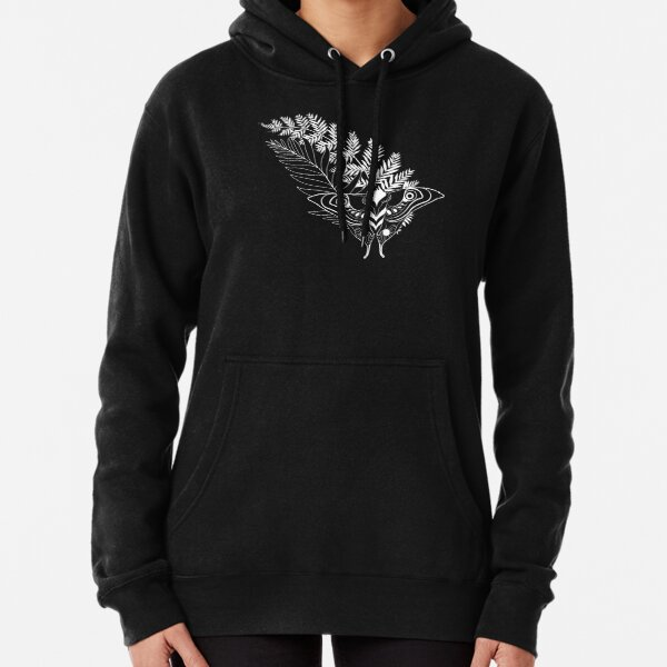 Ellie's Tattoo - TLOU2 (white on black) Pullover Hoodie